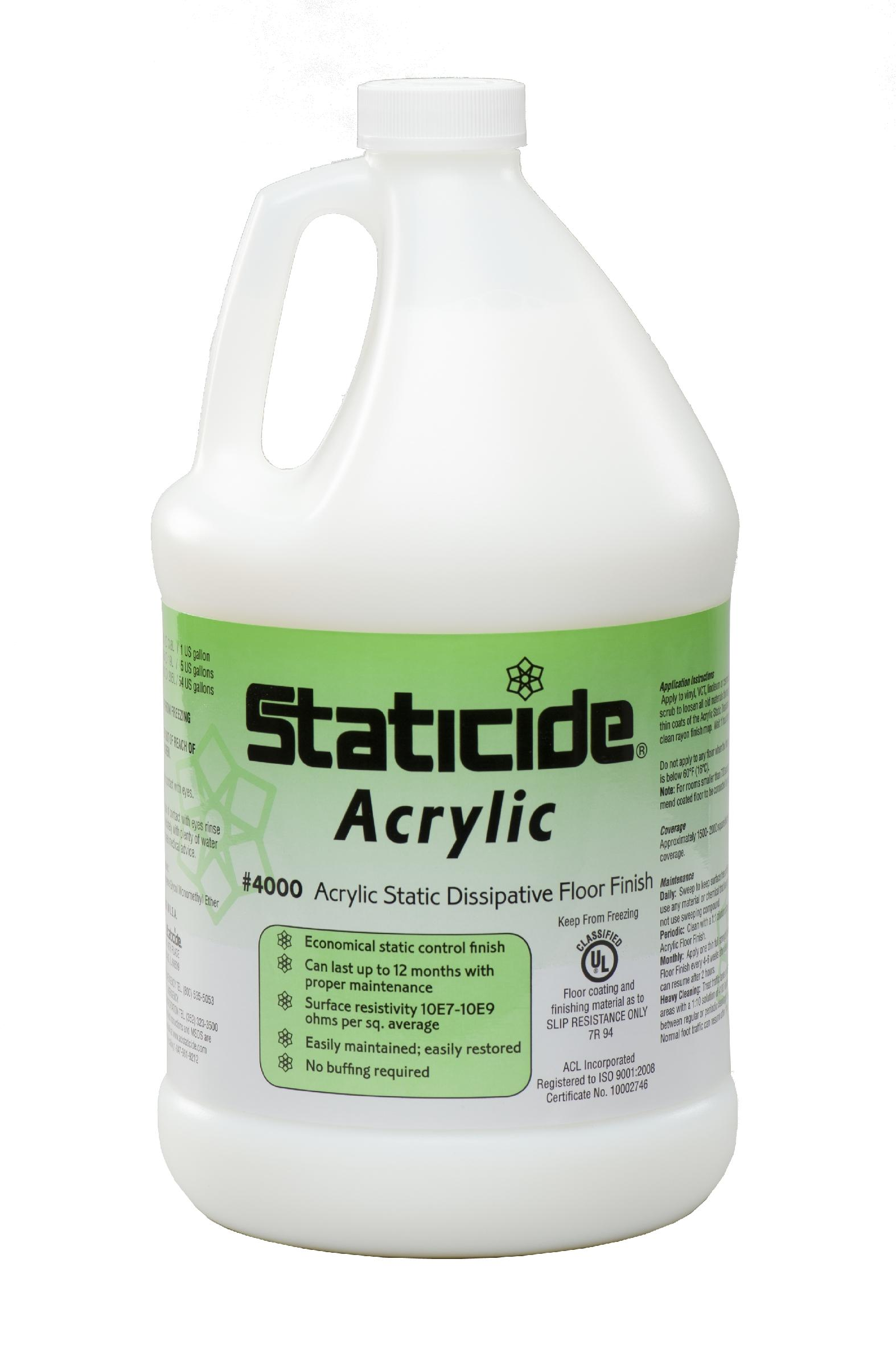 Anti Static Floor Finish : Acl staticide esd acrylic floor finish one gallon
