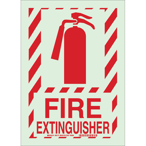Glow In The Dark Fire Sign 78260