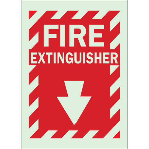 Glow In The Dark Fire   Exit Sign 80162