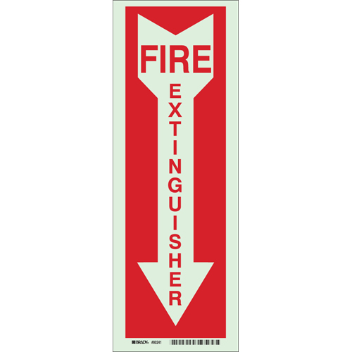 Glow In The Dark Fire   Exit Sign 80241
