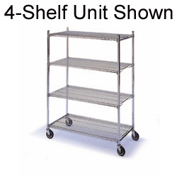 Complete Mobile Wire Shelving Units 644M