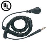 Coiled Cord  Black  20   4MM Banana 09682