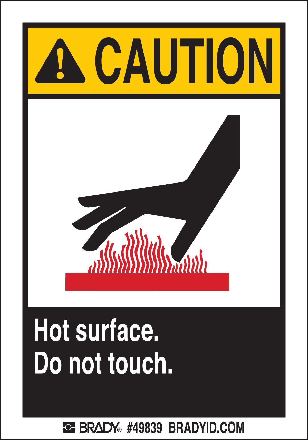 DO NOT TOUCH HOT  5 Package 49839