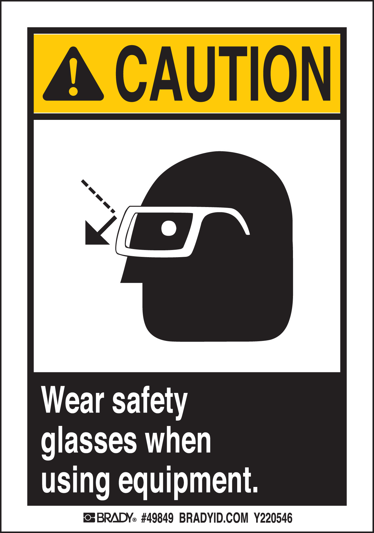WEAR SAFETY GLASSES   5 Package 49849