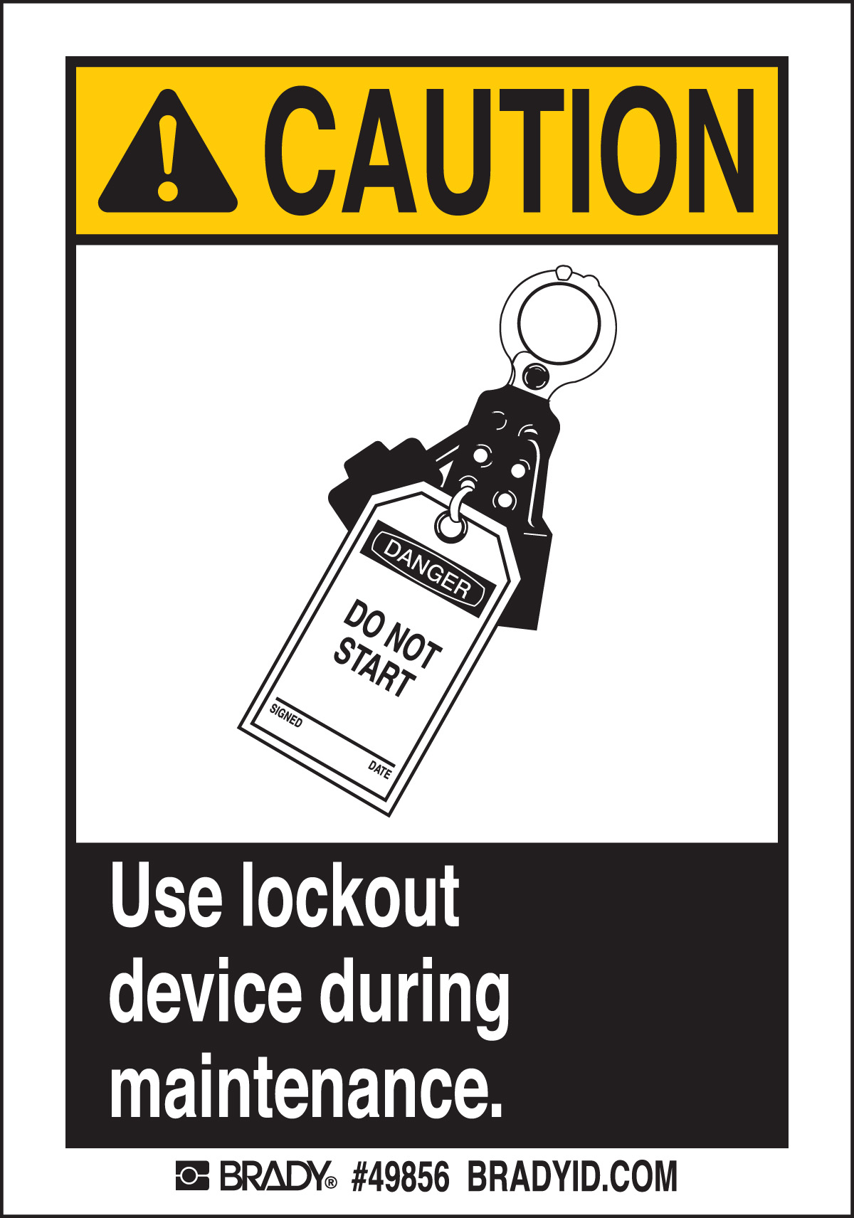 USE LOCKOUT DEVICE  5 Package 49856