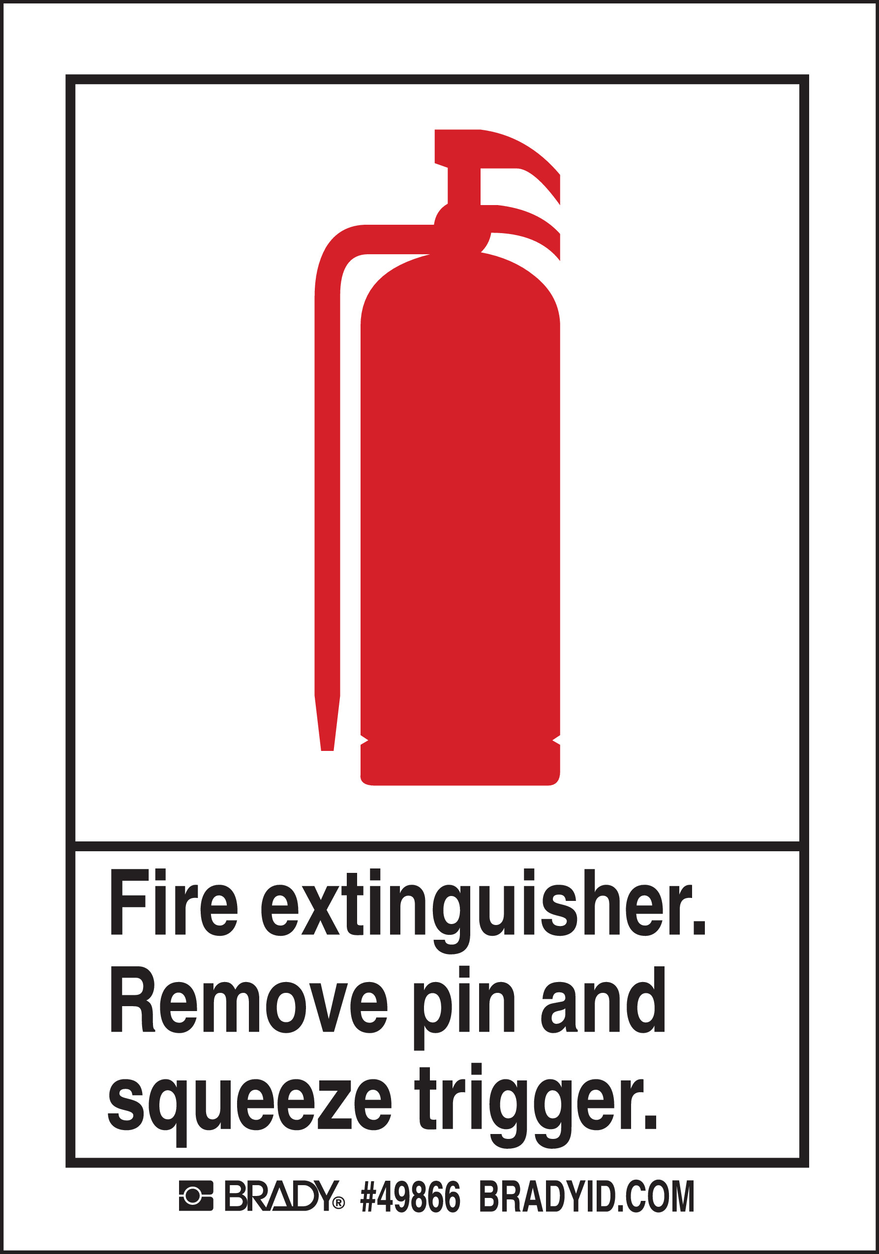 FIRE EXTINGUISHER SIGN  5 Package 49866