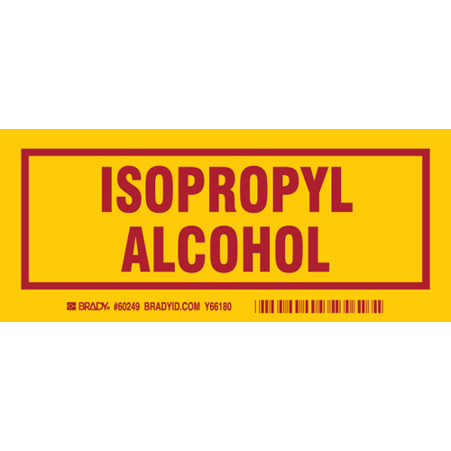 Isopropyl Alcohol Label  3 x7   Pk 25 60249