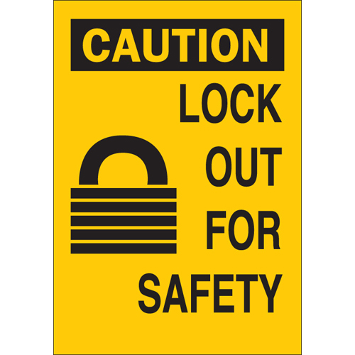 Lockout Safety Sign 65571