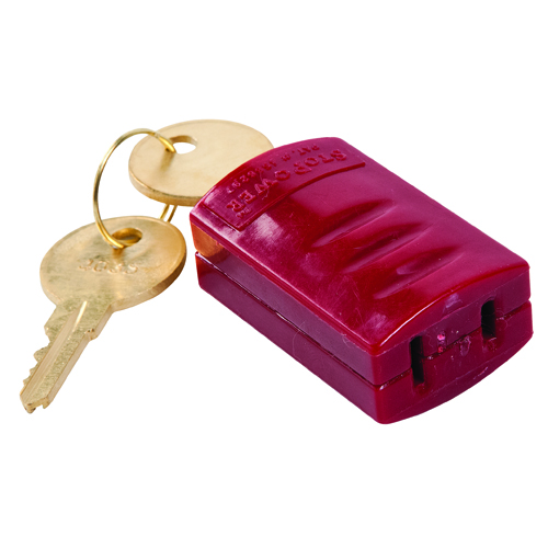 Stopower Plug Lockout   Red Device 65673
