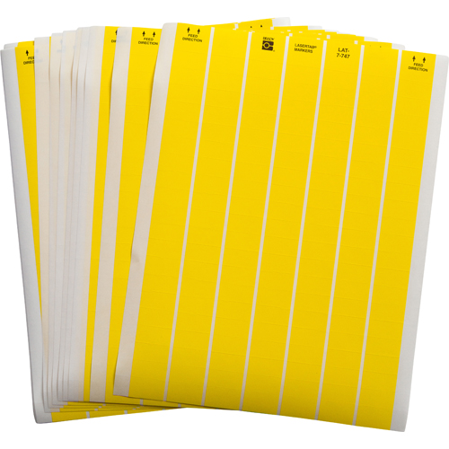 LASERTAB Laser Printable Labels Yellow LAT 7 747 10 YL